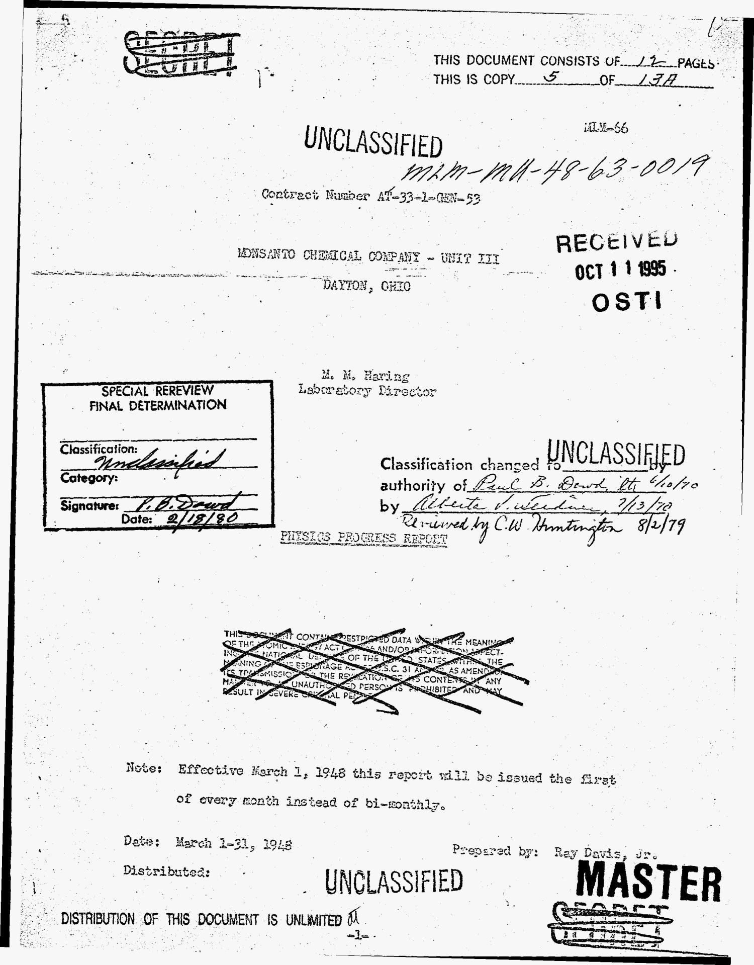 Physics progress report, March 1--31, 1948 - Digital Library