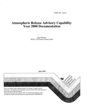Primary view of object titled 'Atmospheric release advisory capability: year 2000 documentation'.