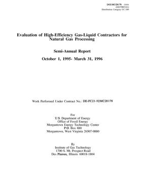 Primary view of object titled 'Evaluation of High-Efficiency Gas-Liquid Contactors for Natural Gas Processing'.