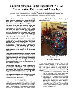 Primary view of object titled 'National Spherical Torus Experiment (NSTX) Torus Design, Fabrication and Assembly'.