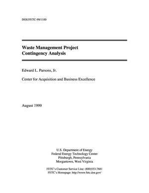 Primary view of object titled 'Waste Management Project Contingency Analysis'.