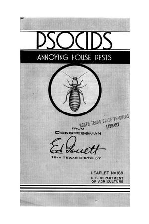 Primary view of object titled 'Psocids, Annoying House Pests.'.
