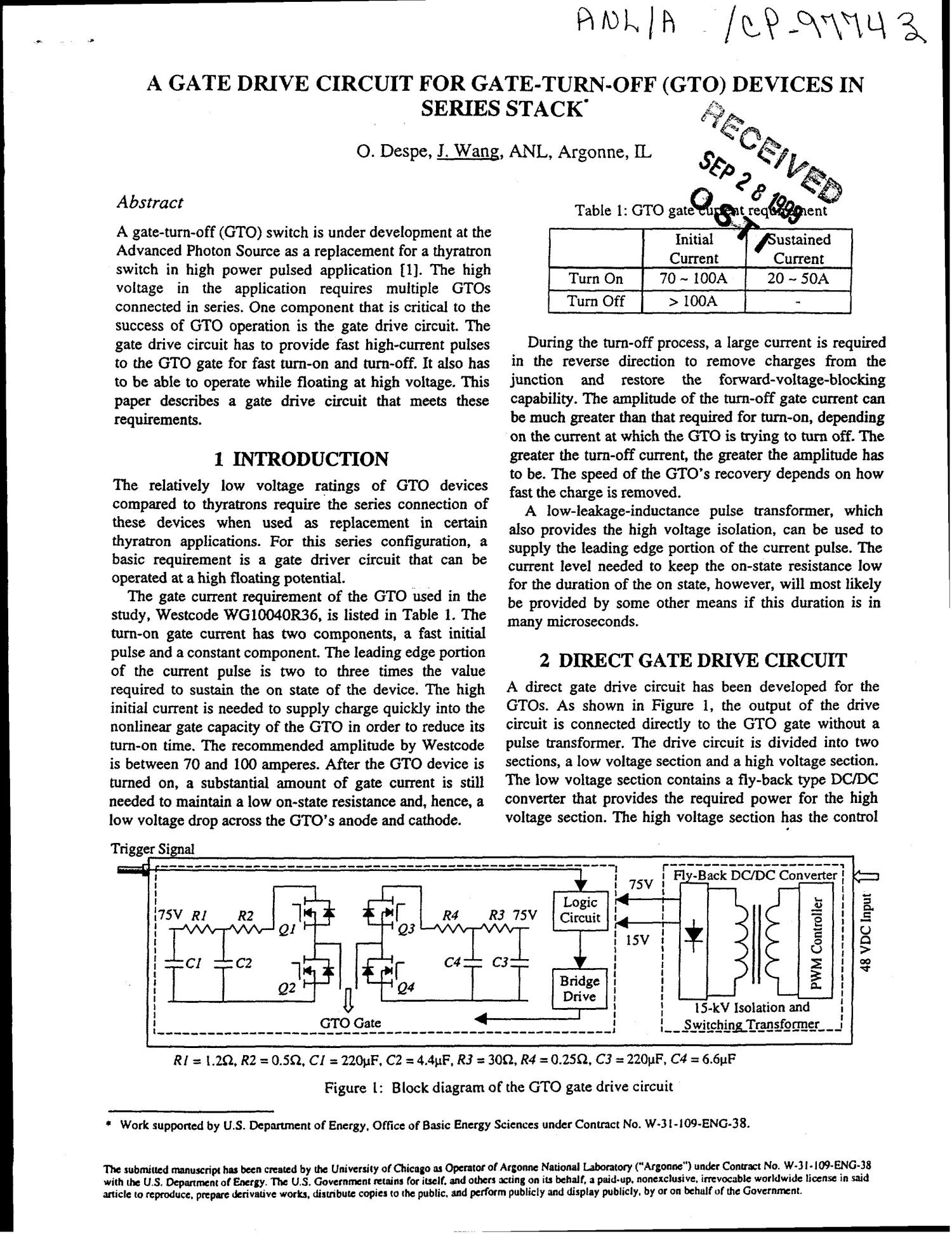 A Gate Drive Circuit For Turn Off Gto Devices In Series Stack Logic Diagram Of And Digital Library