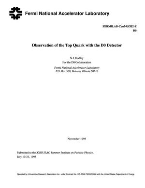 Primary view of object titled 'Observation of the top quark with the D0 detector'.