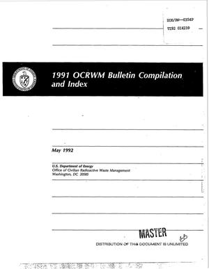 Primary view of object titled '1991 OCRWM bulletin compilation and index'.