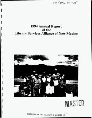 Primary view of object titled 'Library Services Alliance of New Mexico. 1994 Annual report'.