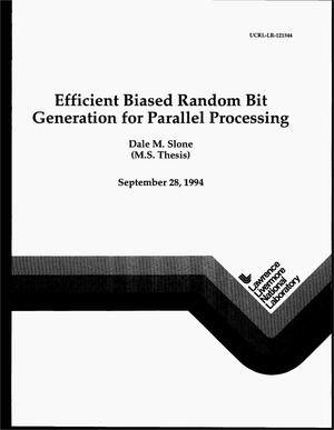 Primary view of object titled 'Efficient biased random bit generation for parallel processing'.