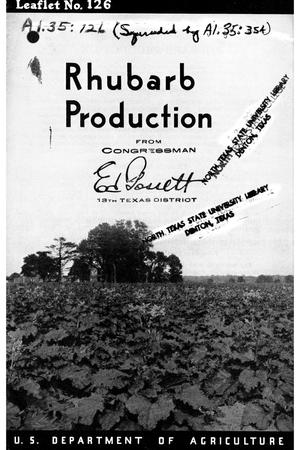 Primary view of object titled 'Rhubarb Production.'.