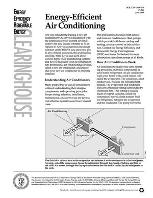 Primary view of object titled 'Energy-Efficient Air Conditioning'.