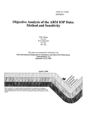 Primary view of object titled 'Objective analysis of the ARM IOP data: method and sensitivity'.