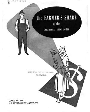 Primary view of object titled 'The Farmer's Share of the Consumer's Food Dollar.'.