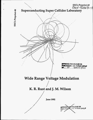 Primary view of object titled 'Wide-range voltage modulation'.