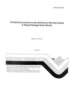 Primary view of object titled 'W1045 environment surf drip shield and waste package outer barrier'.