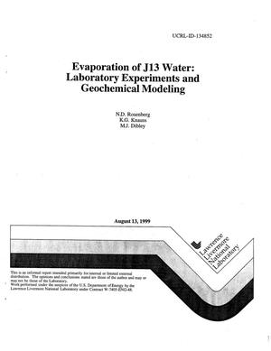 Primary view of object titled 'Evaporation of J13 water: laboratory experiments and geochemical modeling'.