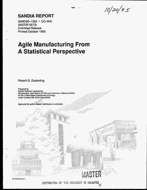 Primary view of object titled 'Agile manufacturing from a statistical perspective'.