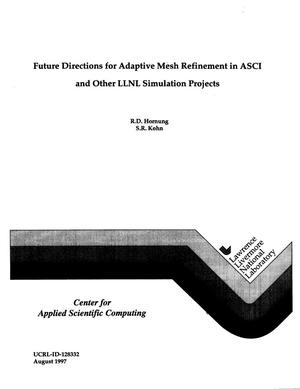 Primary view of object titled 'Future directions for adaptive mesh refinement in ASCI and other LLNL simulation projects'.