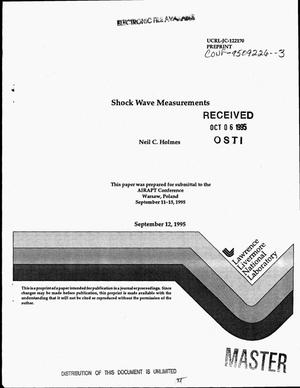 Primary view of object titled 'Shock wave measurements'.