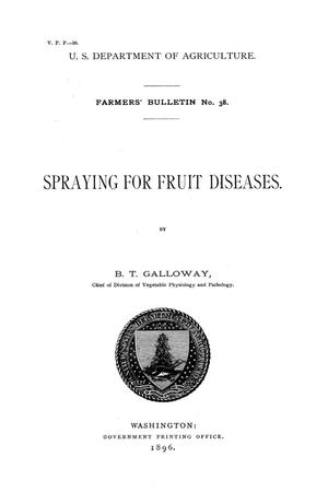 Spraying for fruit diseases.