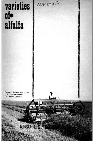 Primary view of object titled 'Varieties of alfalfa.'.