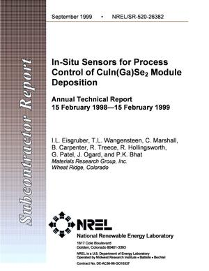 Primary view of object titled 'In-Situ Sensors for Process Control of CuIn(Ga)Se2 Module Deposition; Annual Technical Report, 15 February 1998-15 February 1999'.