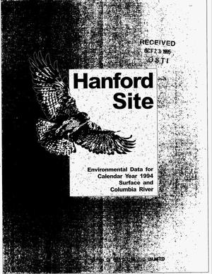 Primary view of object titled 'Hanford Site environmental data for calendar year 1994: Surface and Columbia River'.