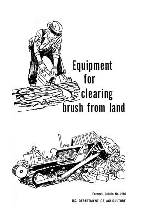 Primary view of object titled 'Equipment for clearing brush from land.'.