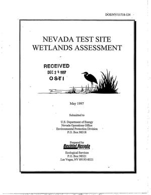 Primary view of object titled 'Nevada Test Site Wetlands Assessment'.