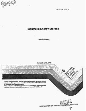 Primary view of object titled 'Pneumatic energy storage'.