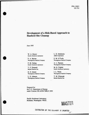 Primary view of object titled 'Development of a risk-based approach to Hanford Site cleanup'.