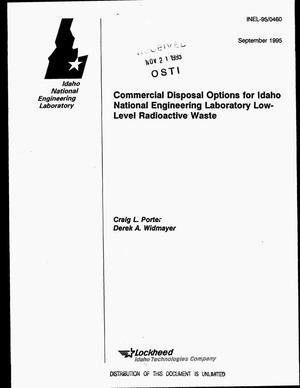 Primary view of object titled 'Commercial disposal options for Idaho National Engineering Laboratory low-level radioactive waste'.