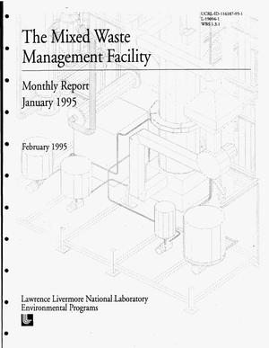 Primary view of object titled 'The mixed waste management facility. Monthly report, January 1995'.