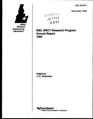 Primary view of object titled 'INEL BNCT Research Program annual report 1994'.