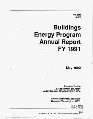 Primary view of object titled 'Buildings Energy Program annual report, FY 1991'.