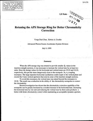 Primary view of object titled 'Retuning the APS storage ring for better chromaticity correction.'.