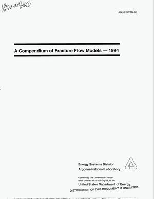 Primary view of object titled 'A compendium of fracture flow models, 1994'.
