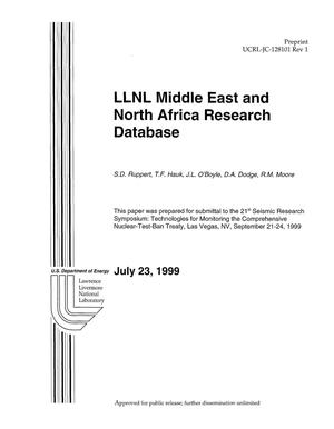 Primary view of object titled 'LLNL Middle East and North Africa research database'.