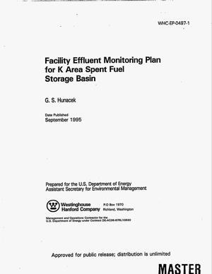 Primary view of object titled 'Facility effluent monitoring plan for K Area Spent Fuel. Revision 1'.