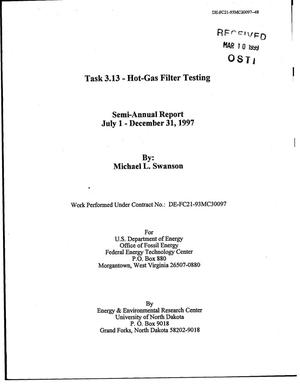 Primary view of object titled 'Task 3.13 - Hot-Gas Filter Testing'.