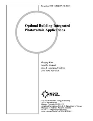 Primary view of object titled 'Optimal building-integrated photovoltaic applications'.