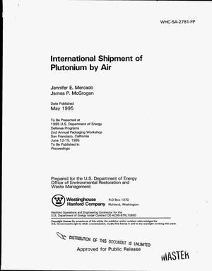 Primary view of object titled 'International shipment of plutonium by air'.