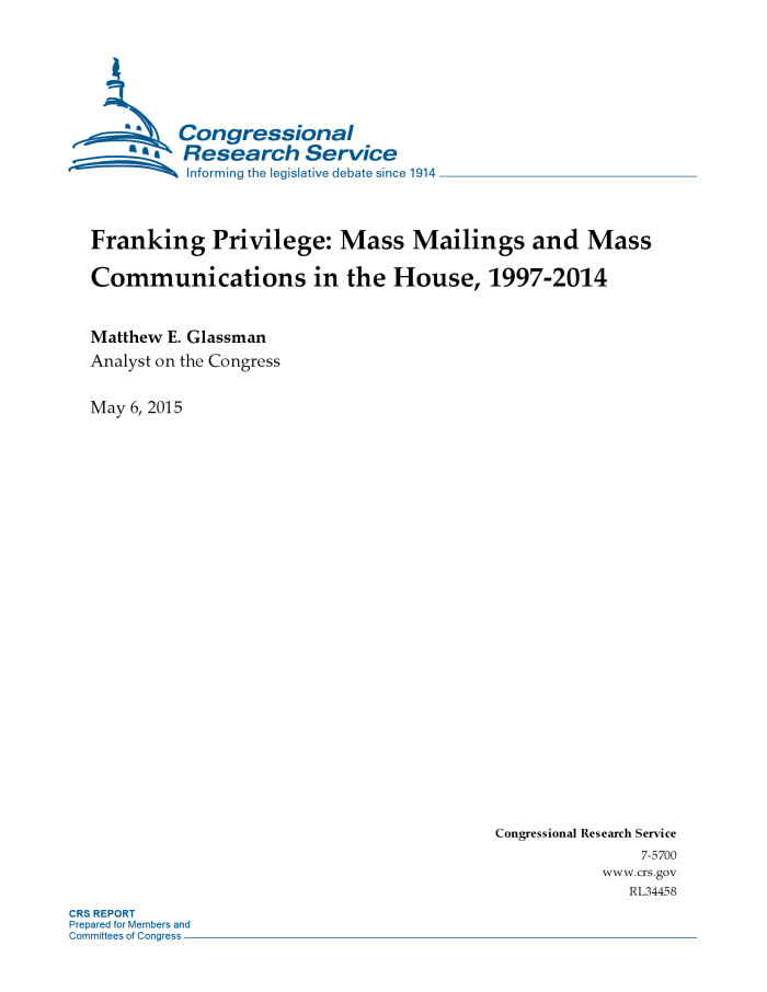 What does franking privilege