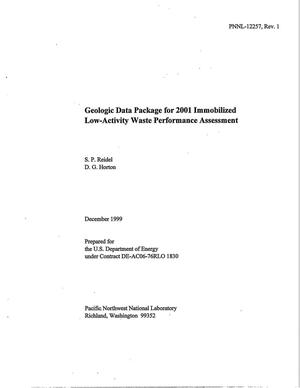 Primary view of object titled 'Geologic Data Package for 2001 Immobilized Low-Activity Waste Performance Assessment'.
