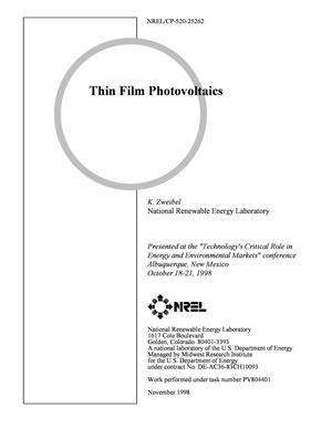 Primary view of object titled 'Thin Film Photovoltaics'.