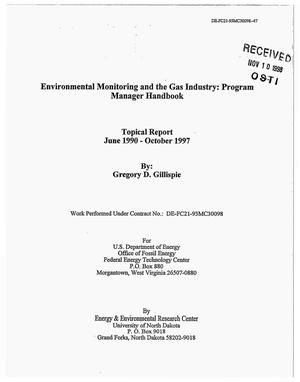 Primary view of object titled 'Environmental Monitoring and the Gas Industry: Program Manager Handbook'.