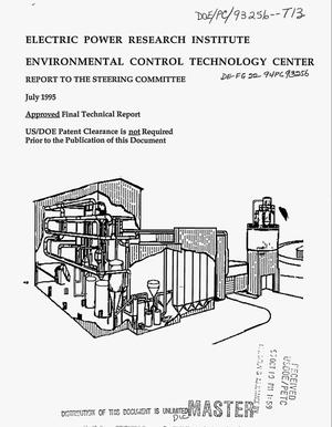 Primary view of object titled 'Electric Power Research Institute, Environmental Control Technology Center report to the Steering Committee. Final technical report'.