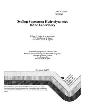 Primary view of object titled 'Scaling supernova hydrodynamics to the laboratory'.