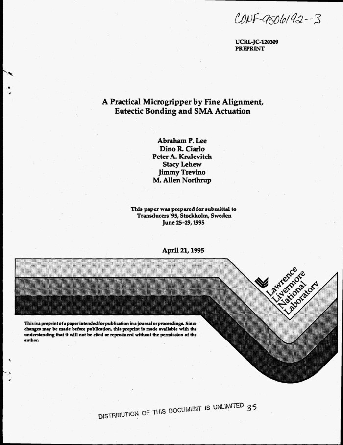 A practical microgripper by fine alignment, eutectic bonding