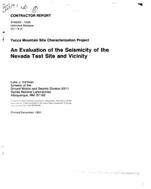 Primary view of object titled 'An evaluation of the seismicity of the Nevada Test Site and vicinity; Yucca Mountain Site Characterization Project'.