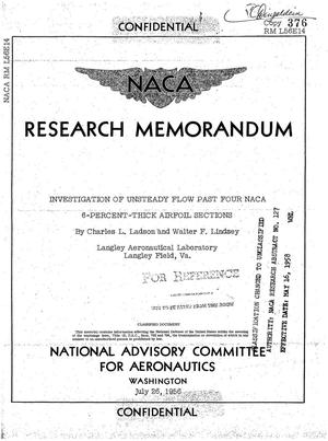 Primary view of object titled 'Investigation of unsteady flow past four NACA 6-percent-thick airfoil sections'.