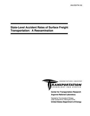Primary view of object titled 'State-level accident rates of surface freight transportation : a reexamination.'.